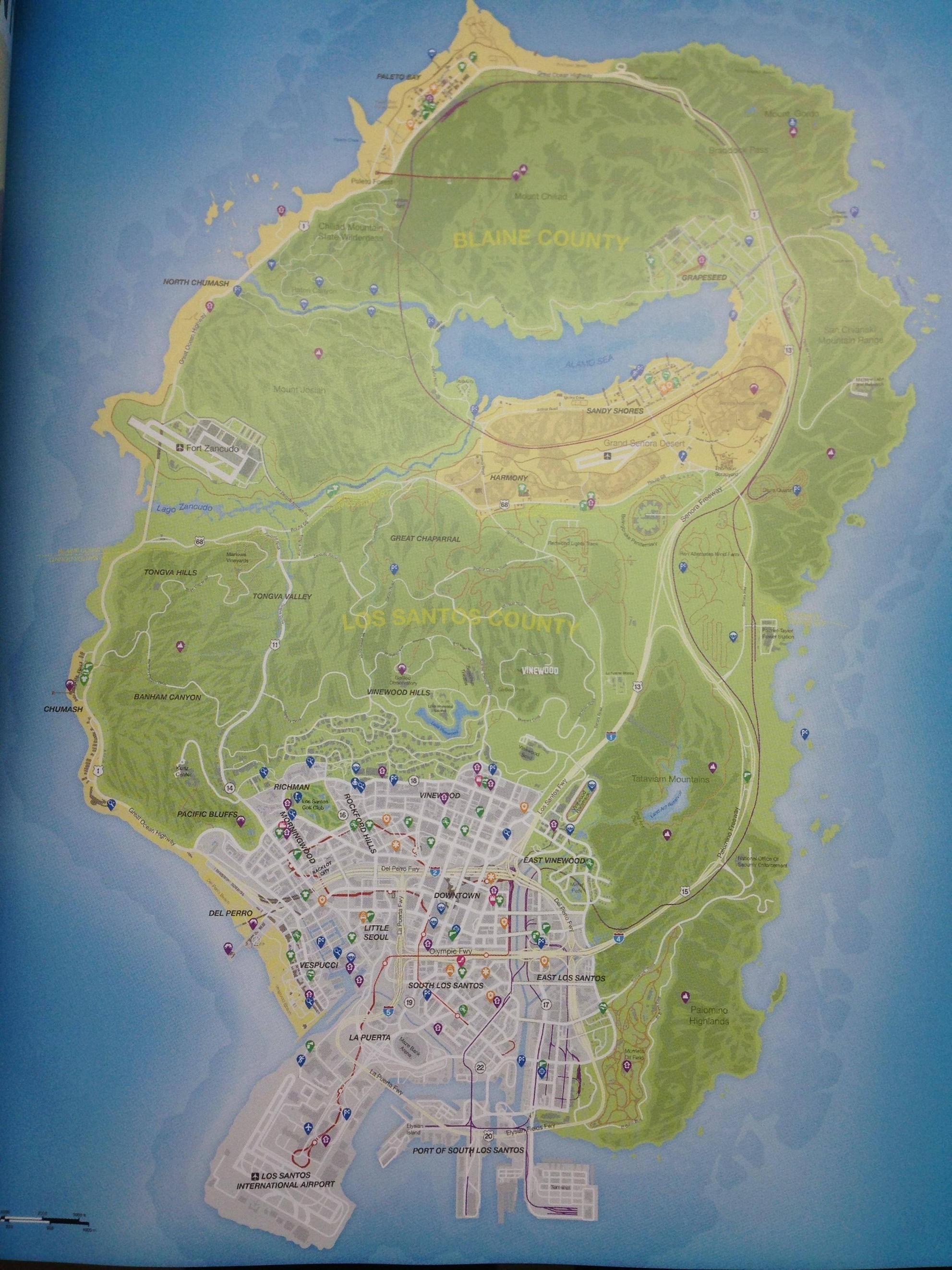 GTA-V-mapa Filtrado Los Santos GTA 5 Grand Theft Auto 5